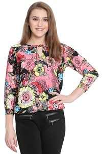 Haider Moss Printed Balloon Top