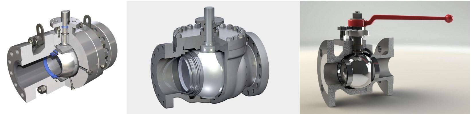 Optimum efficiency ball valve machine for machining a sphere