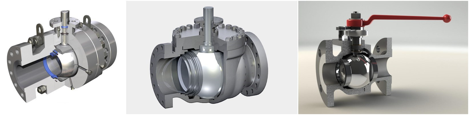 Spherical lathe processing ball valve for sphere surface