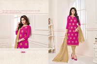 Ladies Embroidery Cotton Suits