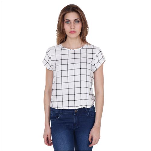 Rayon White T Shirt