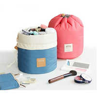 Ladies Pouch Bucket Barrel Makeup Bag