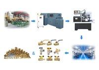 High production efficiency copper valve production line