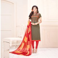 Exclusive Embroidered Cotton Jacquard Salwar Kameez