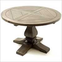 Vintage Round Din Table Smoke Finish