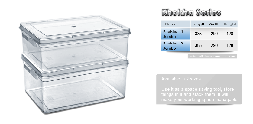 Jumbo storage container - Khokha series