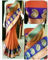Party Wear Designer Mainpuri Silk Saree