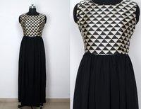 Western Printed Gown