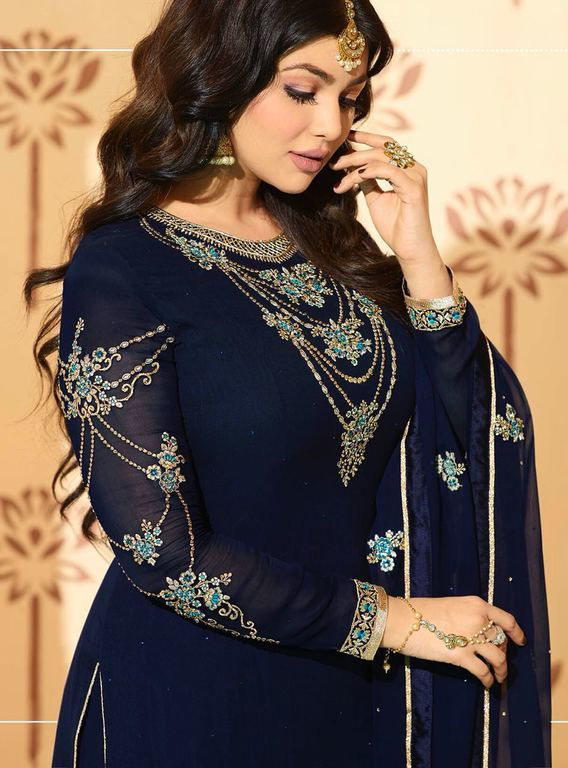 Embroidered Georgette Wedding Suit