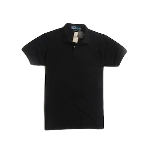 Black Plain Polo T-Shirt