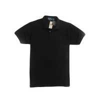 Black Plain Polo T-Shirt
