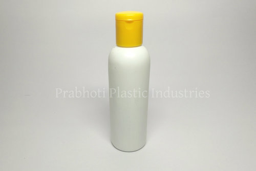Round Shampoo Bottle With Flip Top Cap