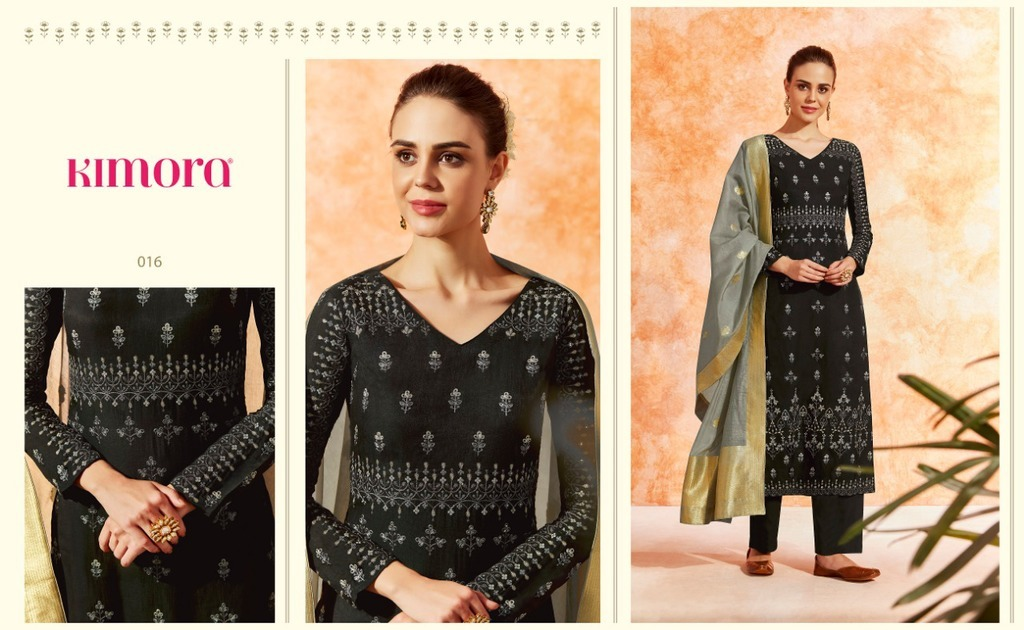 Ladies Embroidery Silk Suits