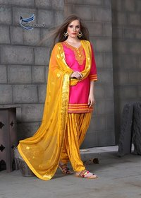 Patiala Cotton Salwar Kameez