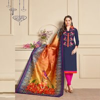 Exclusive Chanderi Plain Straight Suit