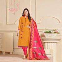 Exclusive Chanderi Plain Straight Suit