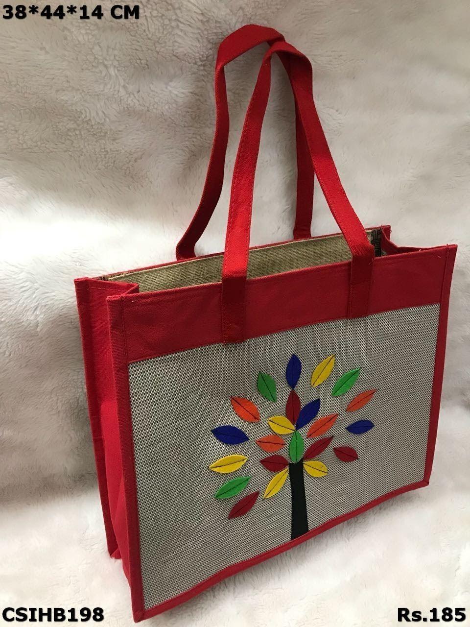 designer Big Size Jute hand bags