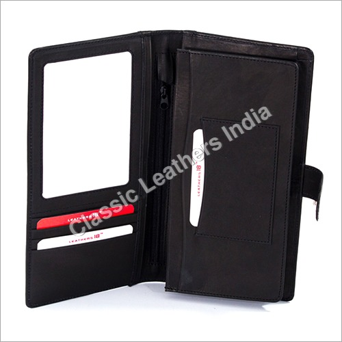 Branded Leather Passport Holder