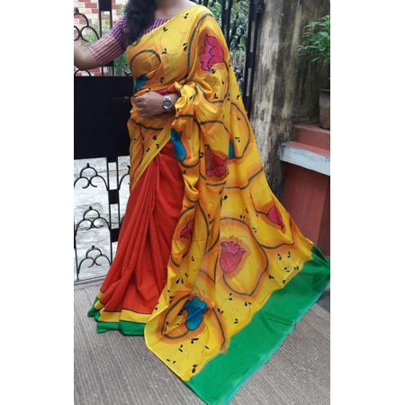 Cotton Coloured Sarees