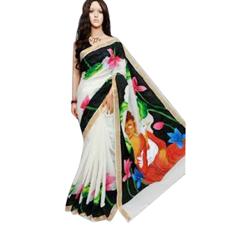 Cotton Hand Printed Sarees