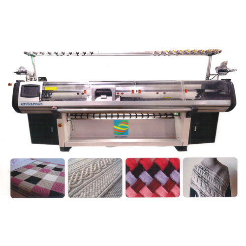 Fully Computerizer Single Carriage Double System & Three System Flat Knitting Machine
