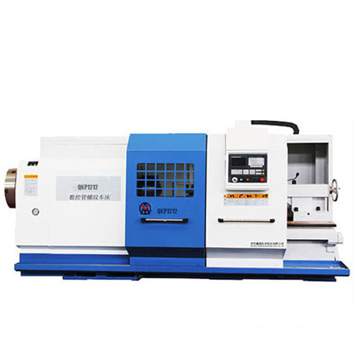 CNC Pipe Threading Lathe Machine for drill tube QK1212 Spindle Bore 130mm