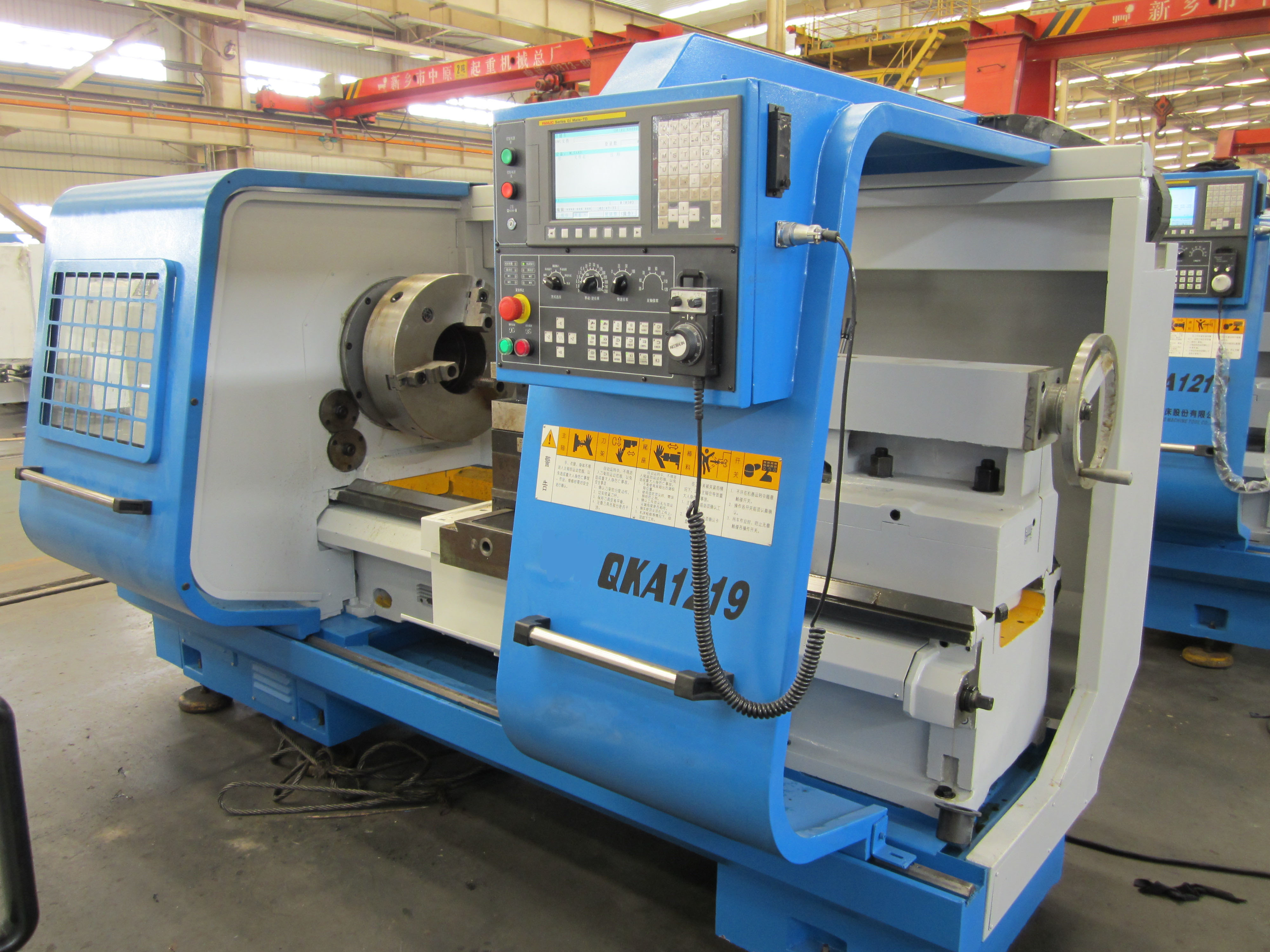 Fanuc system cnc pipe threading lathe machine for oil industry QK1226