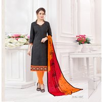 Plain Cotton Jacquard Salwar Suit
