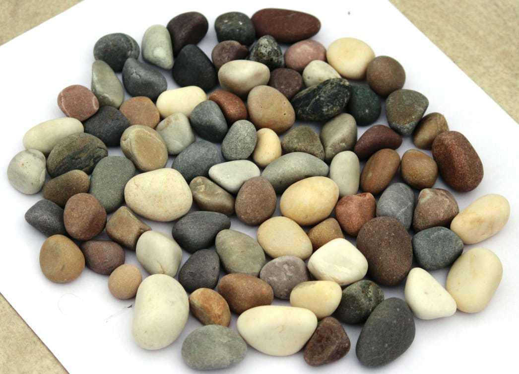 natural tumbled white river pebble / yellow tumbled stone / mix color natural pebbles stone
