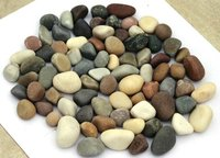 natural tumbled white river pebble / yellow tumbled stone / mix color natural pebbles stone