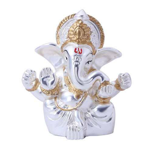 Silver Plated Ganesh Figurines