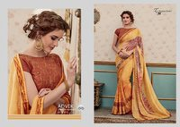 Latest Hand Printed Sarees