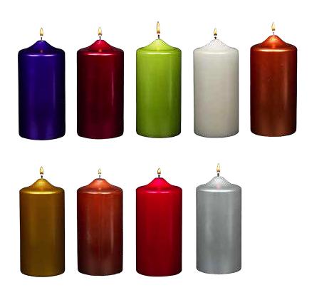 Metallic Candles
