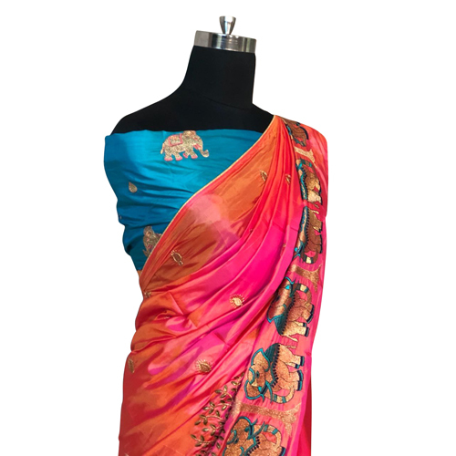 Heavy Border Saree