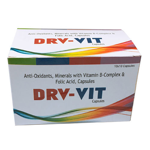 Anti Oxidents,Minerals with Vitamin-B Complex, Folic Acid Capsules