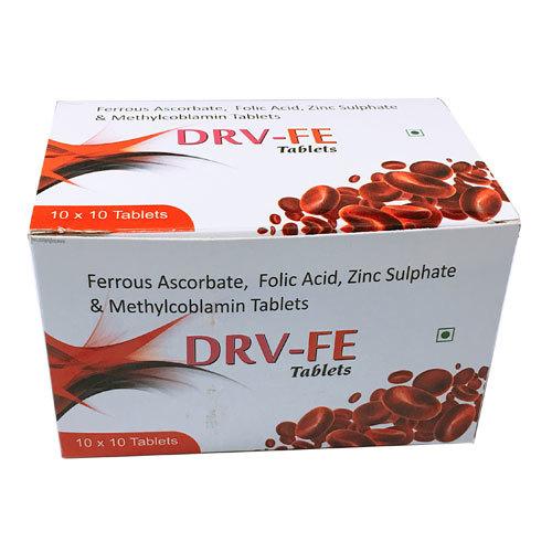 Ferrous Ascorbate, Folic Acid, Zinc Sulphate & Methylcoblamin Tablets