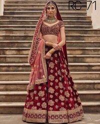 Bridal Wear Designer Maroon Colour  Lehenga Choli