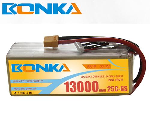Bonka  13000mAh 6S1P 25C lipo battery