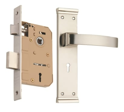 Chrome Plated With Ss Zinc Mortise Handle Lock Set