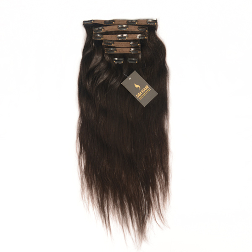 RAW TEMPLE HUMAN HAIR - CLIP IN HAIR EXTENSIONS STAIGHT