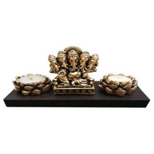 Lotus Candle Ganesha T Light