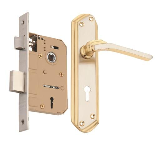 Brass Mortice Key Lock  Set