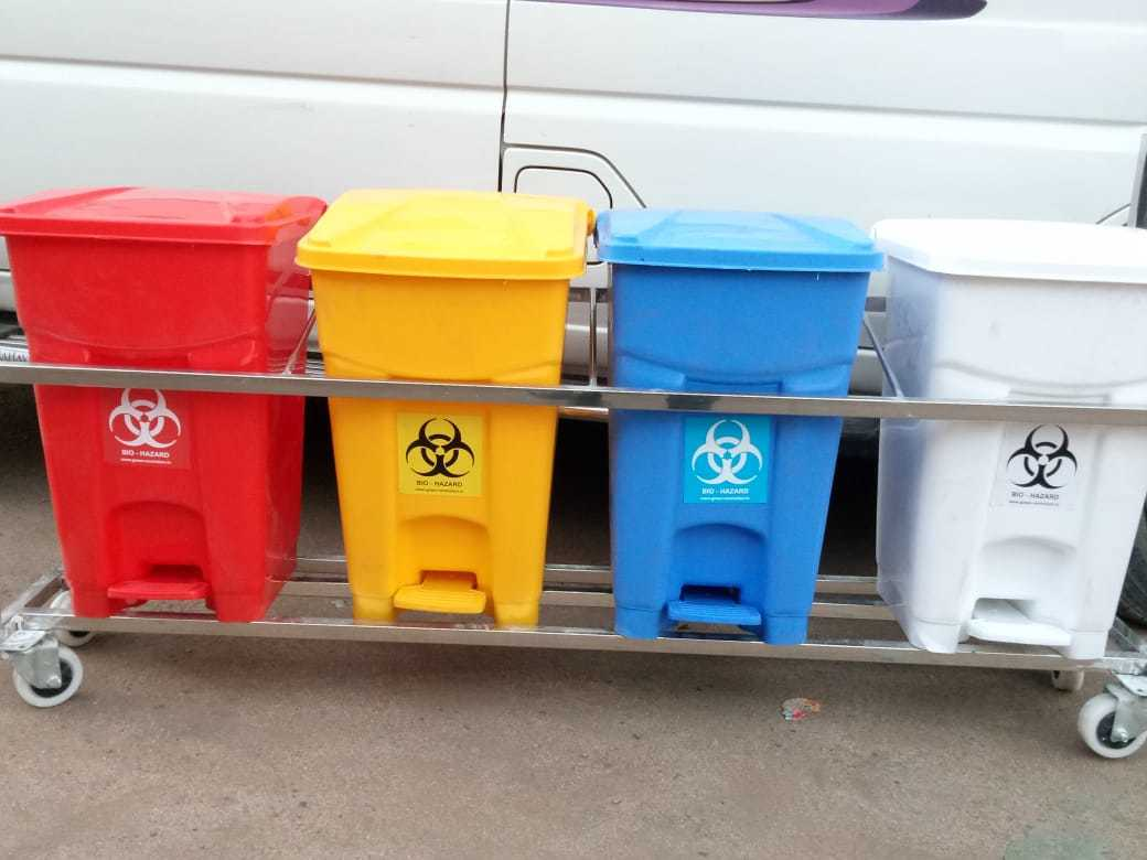 Biomedical Waste Trolley