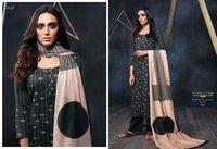 Printed  Silk Long Suit