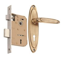 Brass Mortice Key Lock  Set