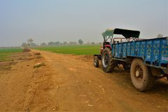 Tractor With Troly For Hiring & Rent