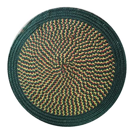 Green Round Mats