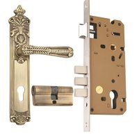 Brass  Mortice Cylindrical Lock  Set