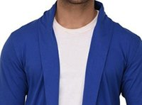Mens Blue Plain Shrug