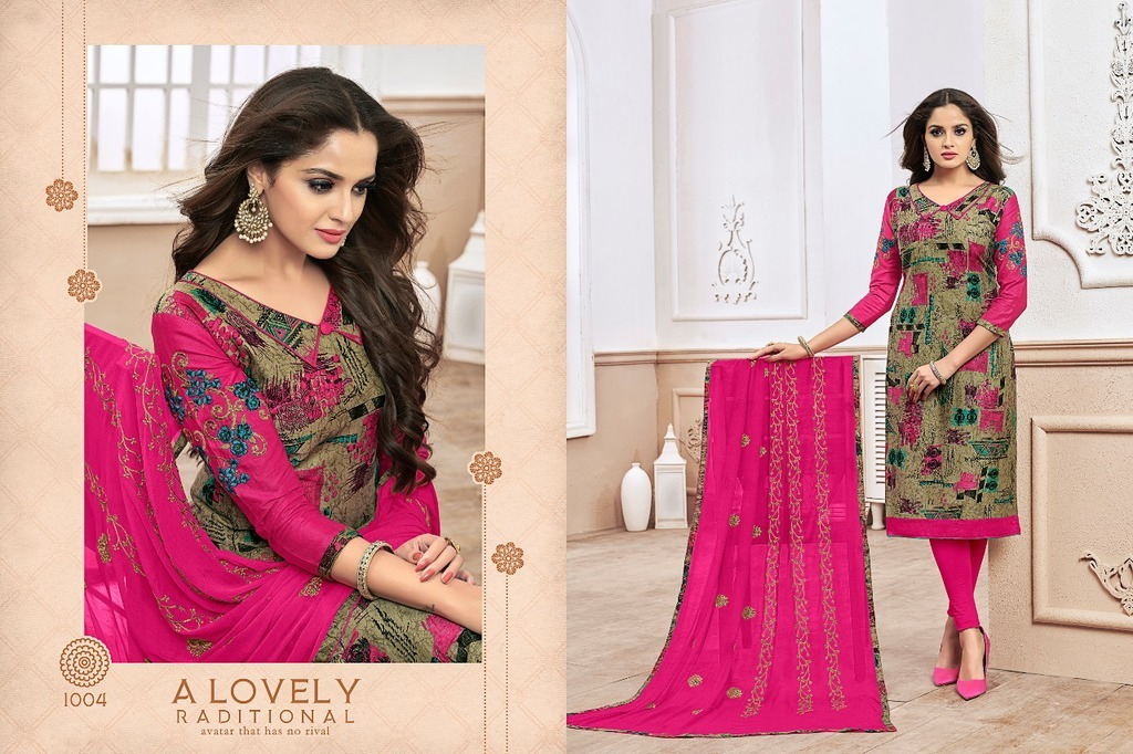 Cotton Printed Suit Material